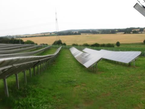 energieteelt met zonnepanelen