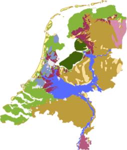 Nederland in landschapstypen